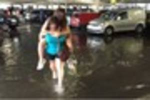 Flash floods strike Brentwood during sharp showers